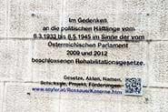 Gedenktafel an die politschen Gefangenen 1933-1945